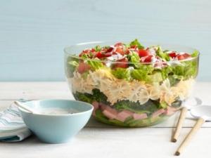 7 layer pasta salad