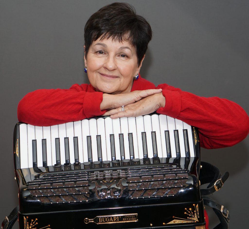 Sharon Rogers and accordion